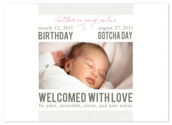 gotcha day and birthday announcement