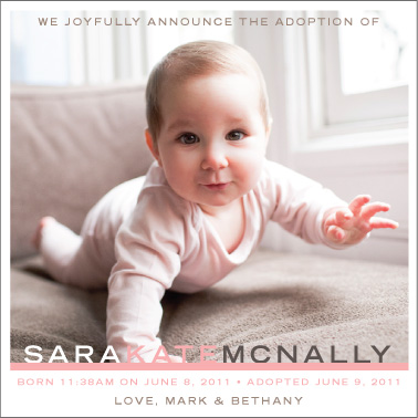 birth announcements - Joyful Adoption Announcement by Liddabits