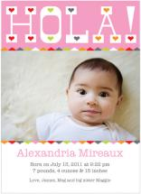 Hola! Baby Announcement by Mary Young
