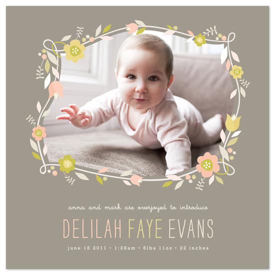 birth announcements - Botanical Frame by Melanie Severin