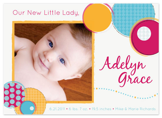 birth announcements - Little Lady by MJ Phelps