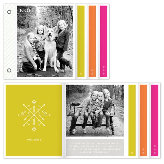 cards - technicolor snowflake by nocciola design