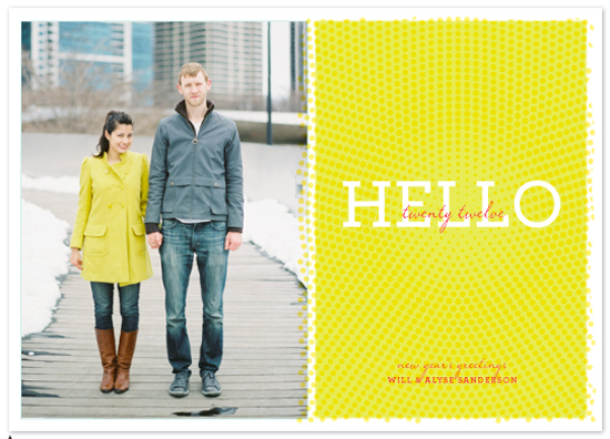 cards - hello to twenty twelve by wendy fessler