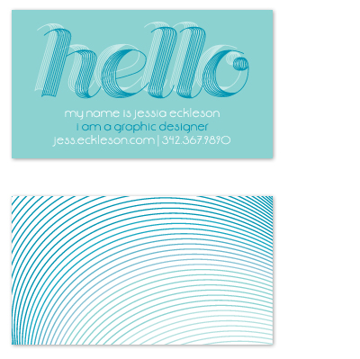 business cards - Graphic Retro Mod by Angela Scheffer