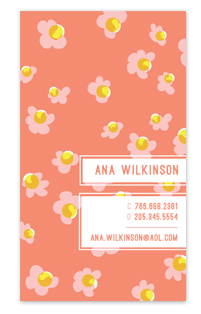 business cards - floral fiesta by Paper Rose