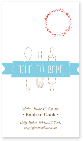 business cards - ache to bake by ross
