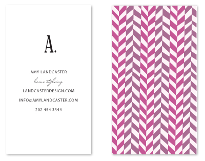 business cards - initial then period by SimpleTe Design