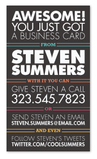 business cards - Awesome! by GeekInk Design