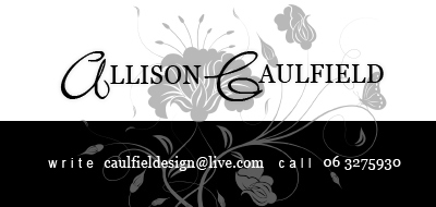 business cards - Black & White by Allison Caulfield