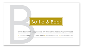 business cards - Bottle & Beer by aticnomar