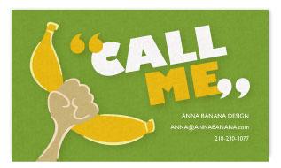 business cards - Banana Phone by Anna Elizabeth
