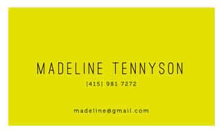 business cards - neon by chocomocacino