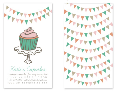 business cards - cute little cupcake by Jen Owens