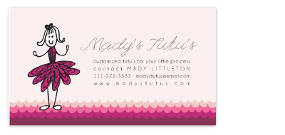 business cards - tutu by blackberry graphics