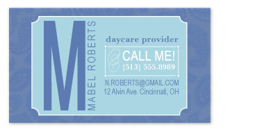 business cards - typographer by Betsy McElwee