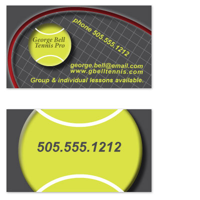 Business cards tennis pro at minted business cards tennis pro by jenn johnson colourmoves
