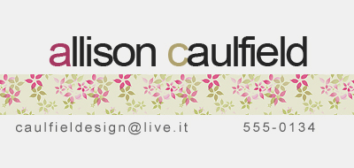 business cards - Flowers by Allison Caulfield
