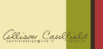 business cards - Strawberry Swing by Allison Caulfield