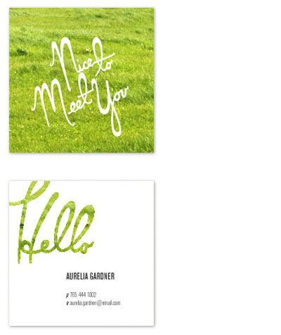 business cards - Grass Greeting Business Card by Katie Gavenda