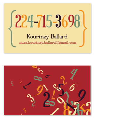business cards - Kourtney's Digits by Mary Anderson Design