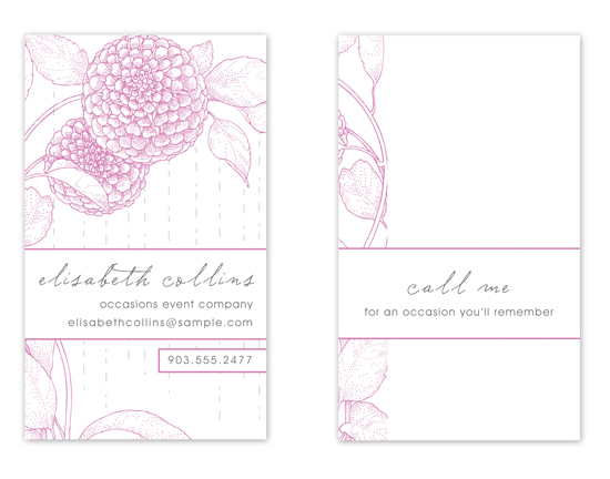 business cards - Sweet Dahlia by Sam F.