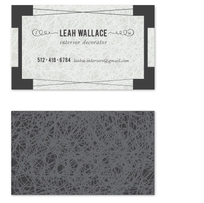 business cards - Silver Lace by Nightingale Press
