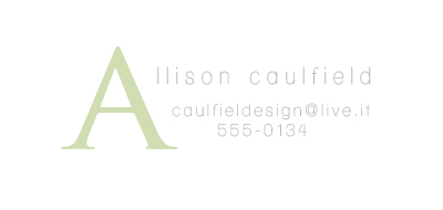 business cards - Narcissus by Allison Caulfield
