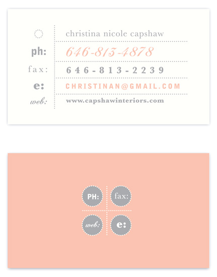 business cards - circle circle dot dot by hey paper moon