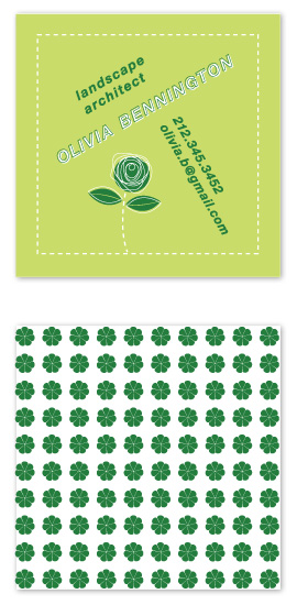 business cards - Easy Being Green by Nightingale Press