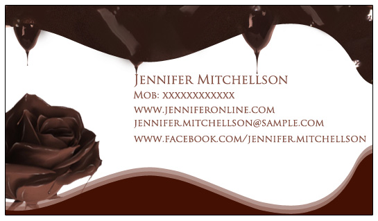 business cards - Chocolate by Anoop
