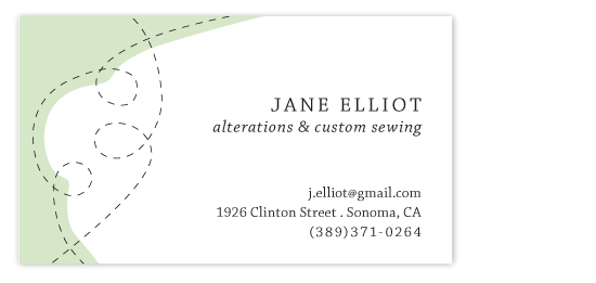 business cards - Stitching by Pilot Papers