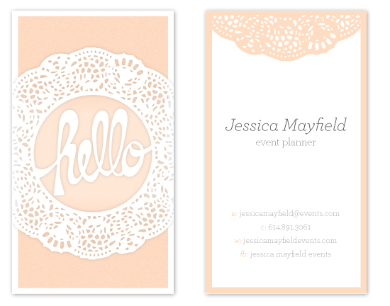 business cards - A Dainty Hello by våre hender