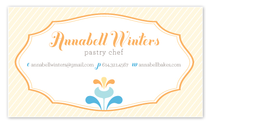 business cards - A Sophisticated Sweetie by våre hender