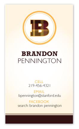 business cards - The Collegiate by våre hender