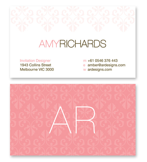 business cards - pretty and ornate by Three Eggs