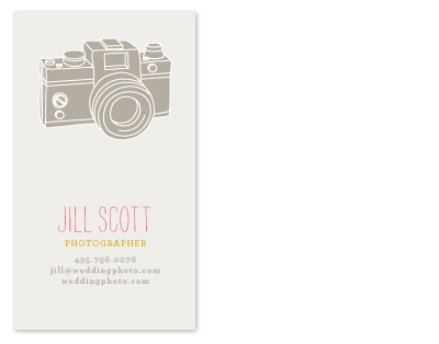 business cards - Camera Card by ERAY