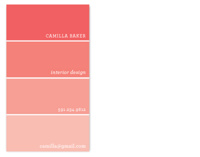 business cards - Color Swatch by Lauren Chism