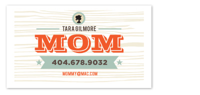 business cards - Im a Mom by chica design