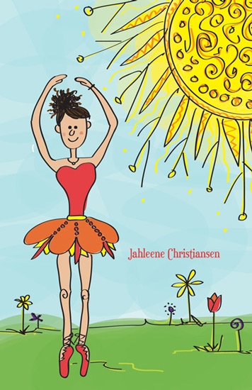 journals - Ballerina Dancing in the Sun by Mary Anderson Design