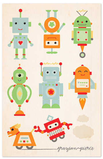 design - Robots! by Dawn Jasper