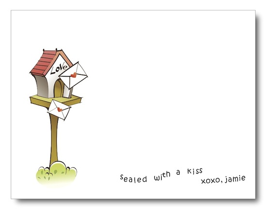 personal stationery - Sealed With a Kiss by Jessica Kim