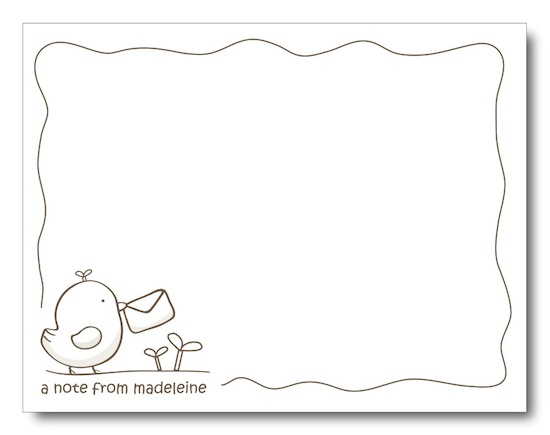 personal stationery - A Little Birdie Told Me by Jessica Kim