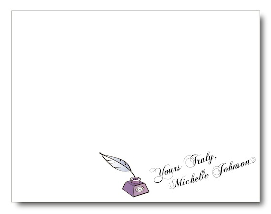 personal stationery - Yours Truly by Jessica Kim