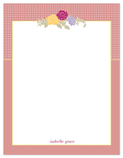 personal stationery - Flowers Moderne by Sam F.