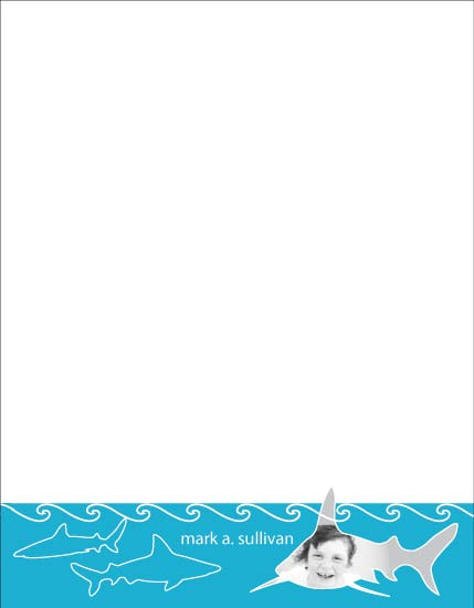 personal stationery - shark bait by d greene