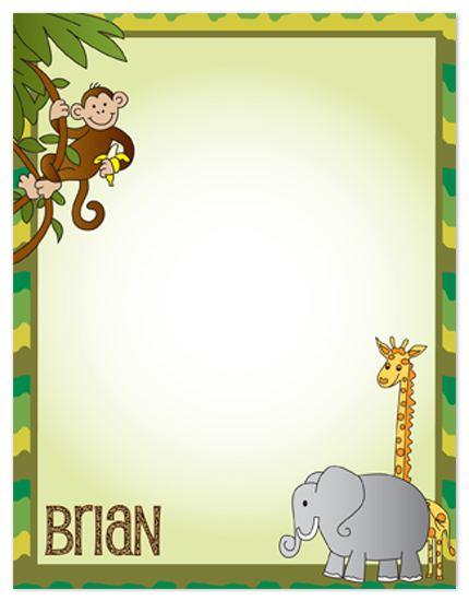 personal stationery - Kiddie Safari by Connie Daly