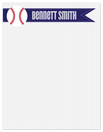 personal stationery - home run by Jen St.Clair