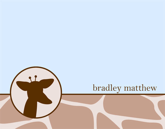 personal stationery - Giraffe by Meredith Carder
