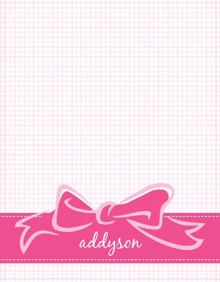 personal stationery - Little Bow Pink by The Paper Proposal