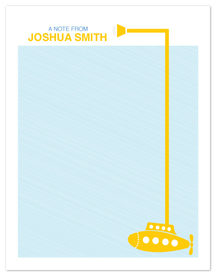 personal stationery - Yellow Submarine by Melissa Cundiff